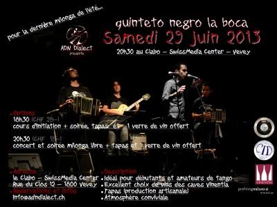 flyer Milonga_con Quinteto Negro
